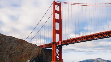 Vista del Golden Gate Bridge en San Francisco, California