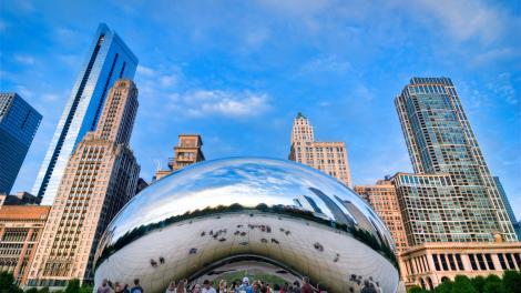 Escultura Cloud Gate en Chicago, Illinois