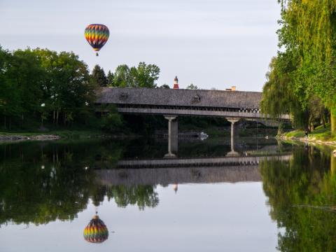 Un competidor del concurso de Balloons Over Bavarian Inn