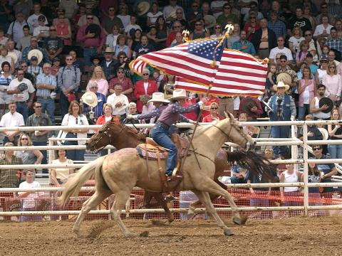 Just another day at the Mother Lode Round-Up Rodeo in Sonora