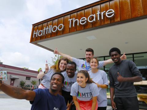 Selfie grupal antes del Indie Memphis Film Festival