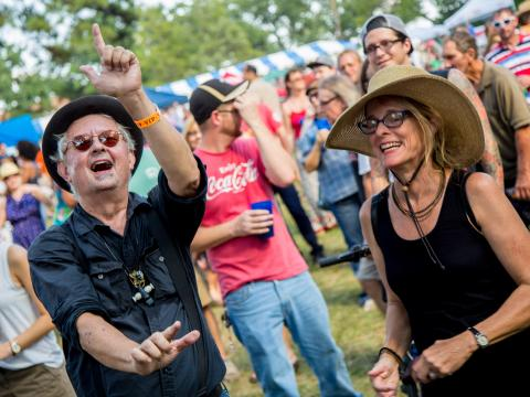 Entusiastas VIP en el Highland Jazz and Blues Festival