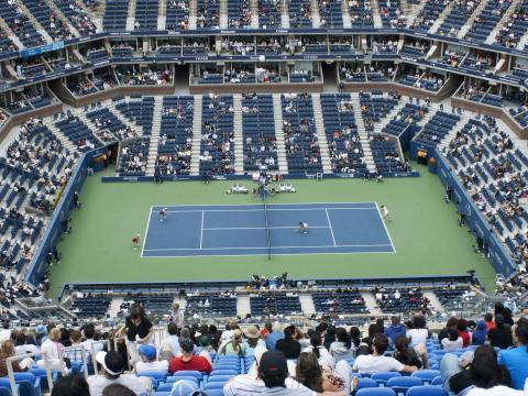 Vista de la cancha de los Campeonatos de tenis del Abierto de Estados Unidos