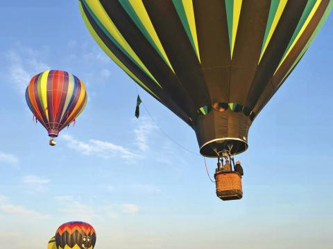 Por lo alto en Hot Air Balloon Festival