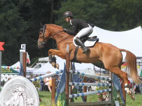 Surcando el aire en Richland Park Horse Trials