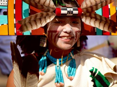 Una niña en Hopi Festival