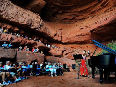 Teatro natural al aire libre en Moab Music Festival