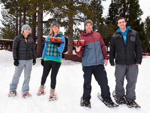 El juego final en Snowshoe Cocktail Races
