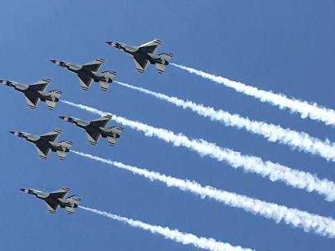 Aviones a reacción formados en Fort Lauderdale Air Show