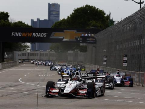 Carrera de autos Grand Prix en Detroit