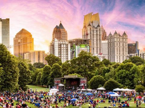 The Atlanta Jazz Festival, held annually in Piedmont Park