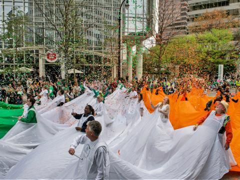 Celebrando la cultura irlandesa durante el Atlanta St. Patrick's Parade